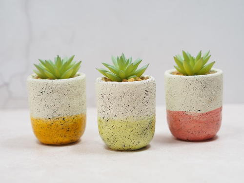 DIY Faux Pottery Planters