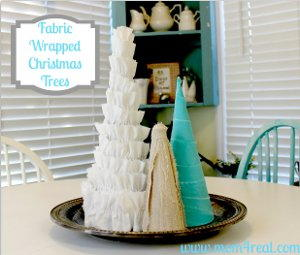 Fabric Wrapped Christmas Trees