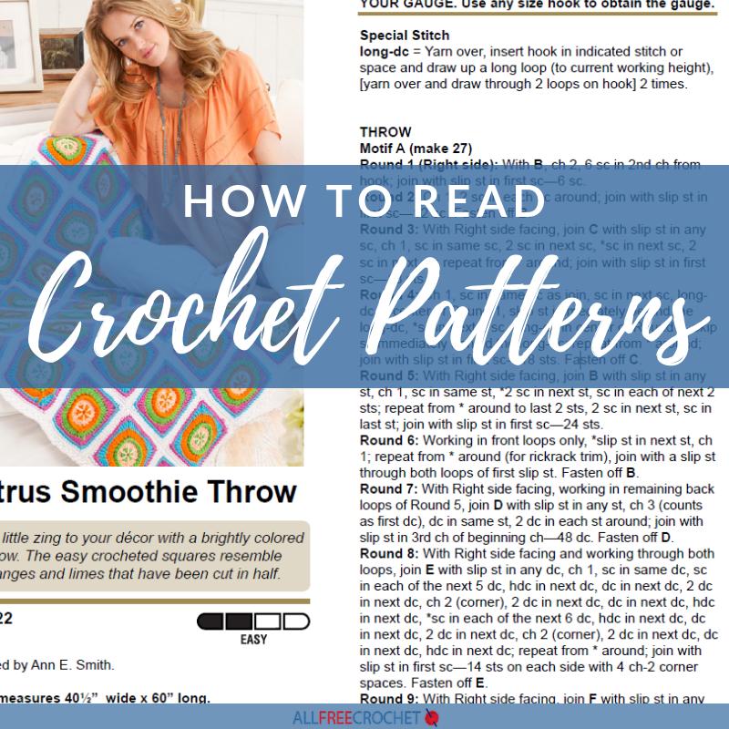How to Read Crochet Patterns | AllFreeCrochet com