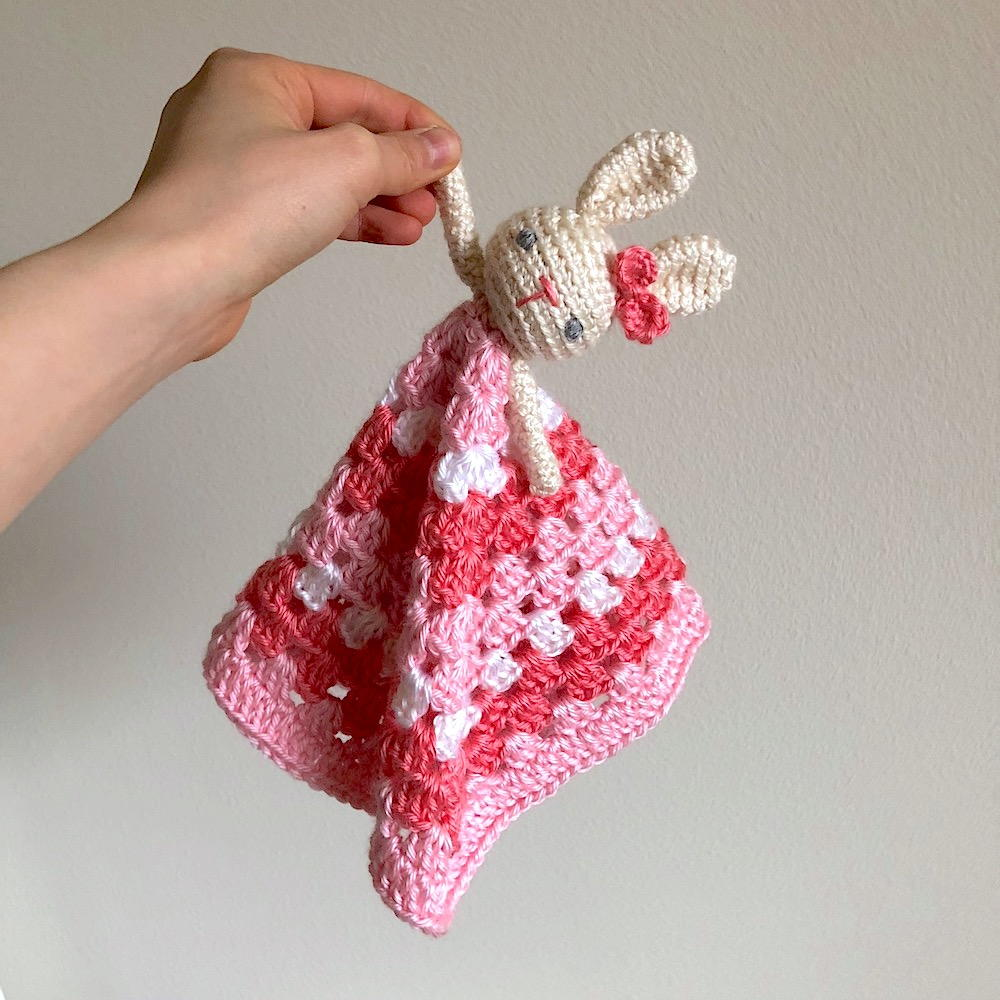 Lovey Crochet Security Blanket Lovey Blanket Bunny Lovey Baby Gift Crochet Bunny Blanket baby shower Bunny Security Blanket