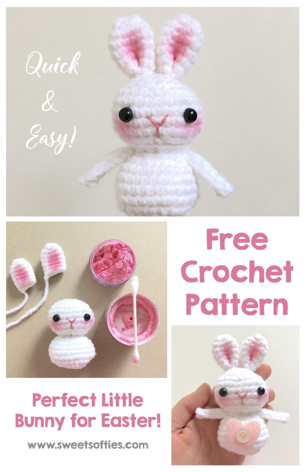 Baby Bunnies - three amigurumi bunny crochet patterns : PlanetJune ...   1542x1000