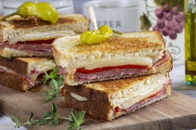 Italian Antipasto Grilled Cheese