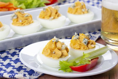 Buffalo-Style Deviled Eggs