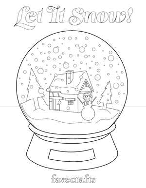 Let It Snow! Snow Globe Coloring Page