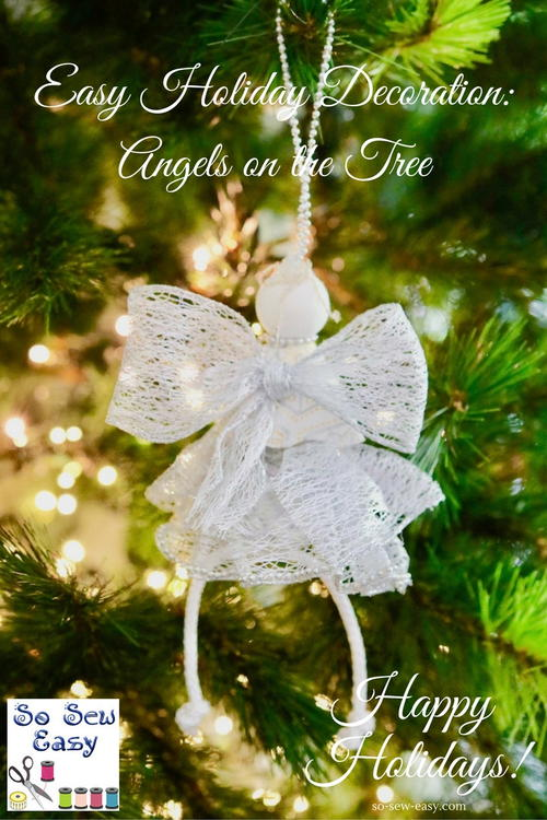 Angels On The Tree, Easy Christmas Decoration