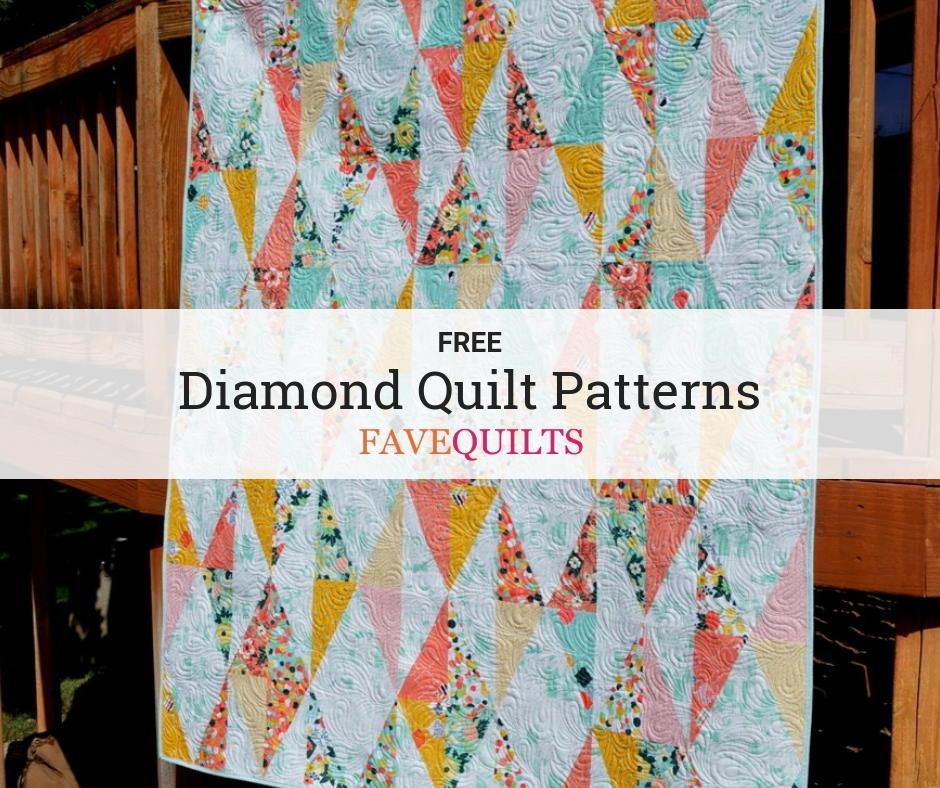 20 Diamond Quilt Patterns | FaveQuilts com