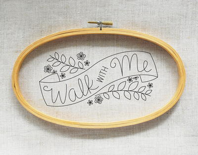 Walk With Me Free Embroidery Pattern