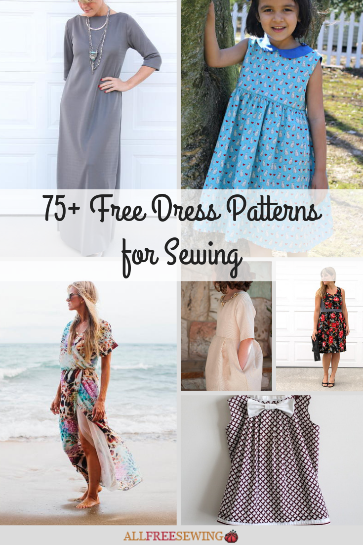 2bd04f501400 75+ Free Dress Patterns for Sewing