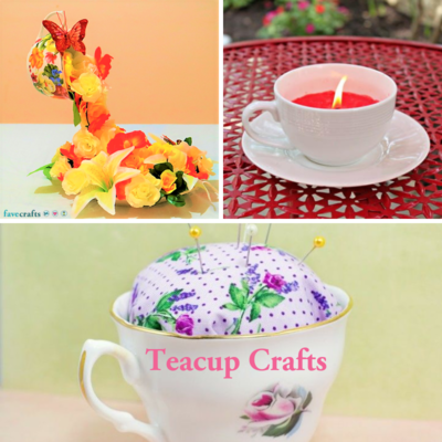 9 Teacup Crafts + DIY Tea Bags