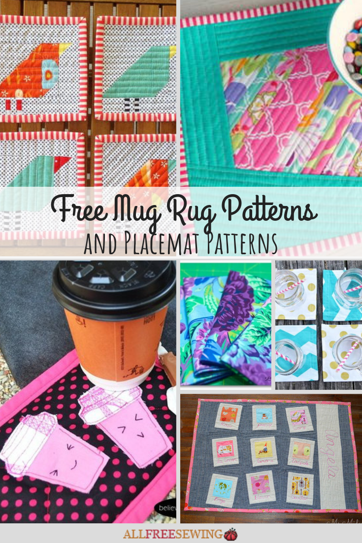 40 Free Mug Rug Patterns And Placemats Allfreesewing Com
