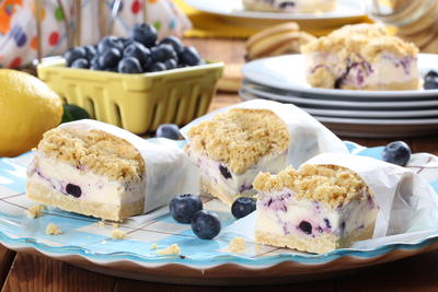 Blueberry-Lemon Ice Cream Sandwiches