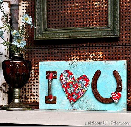 Quilt Heart Love Sign