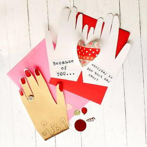 Hand Shaped Valentine Card