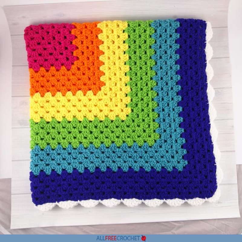 Crochet the Rainbow Granny Square Throw |