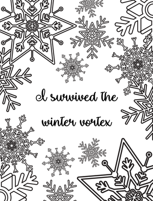 I Survived the Winter Vortex Coloring Page
