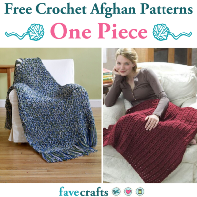 25 Free Crochet Afghan Patterns One Piece Only