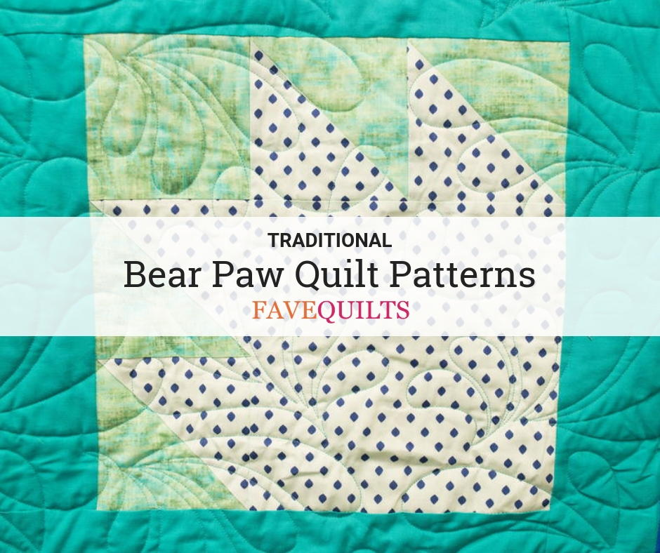 "Foundation Piecing Quilting Stencil Bear Paw 10/"" Stencil House"
