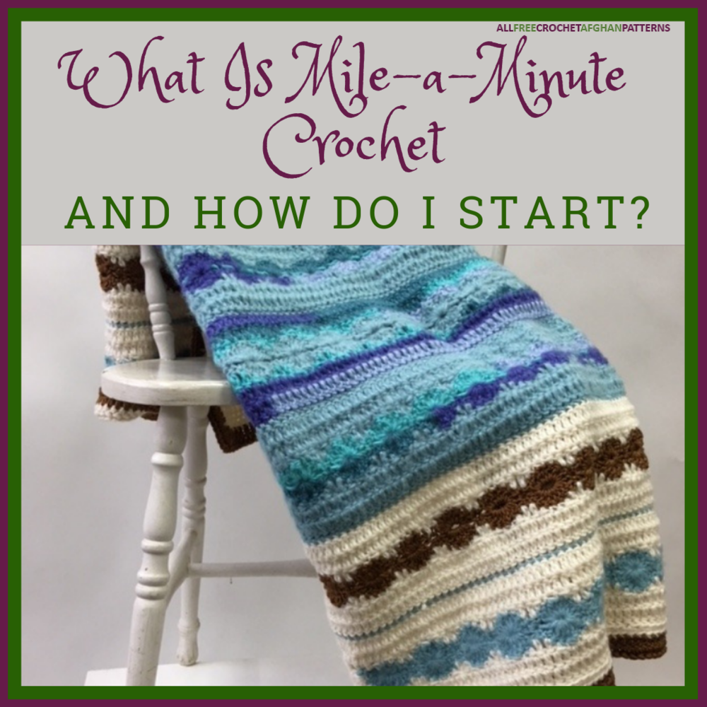 Summer Serenity Afghan TNS Mile A Minute Crochet PATTERN//INSTRUCTIONS NEW