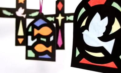 Christian Stained Glass Paper Craft