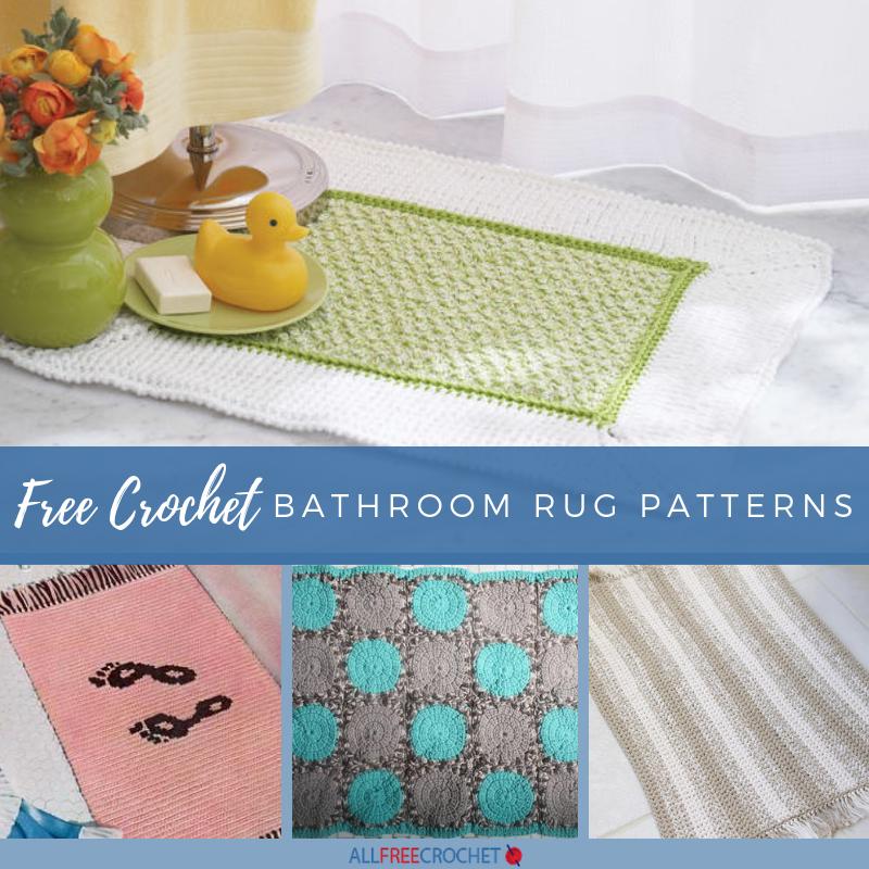 19 Free Crochet Bathroom Rug Patterns