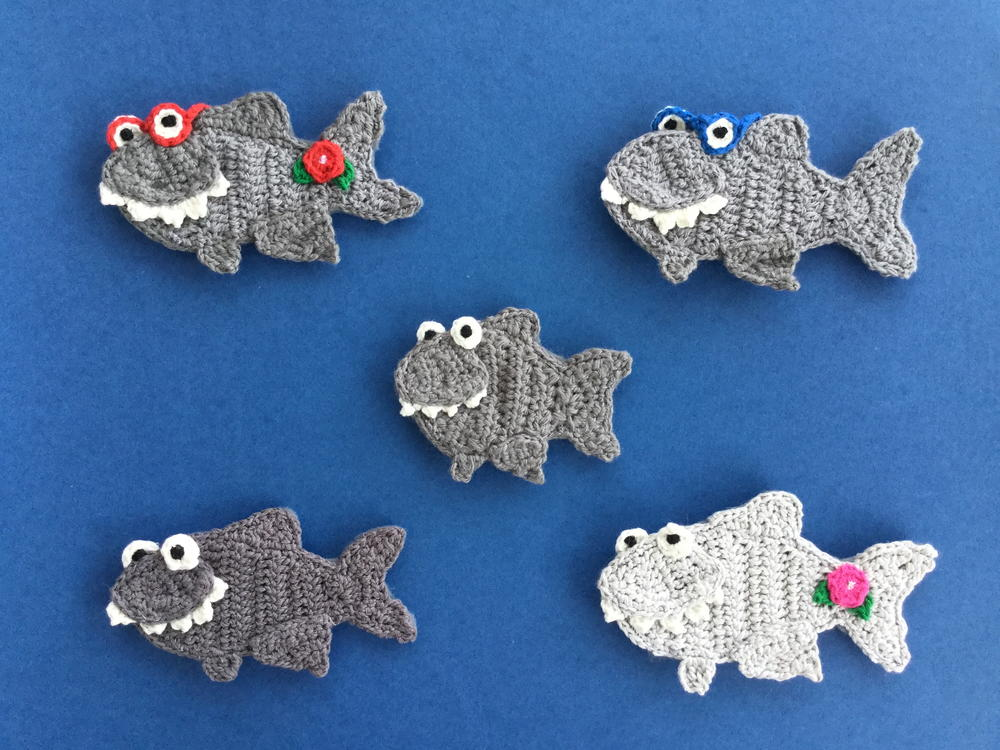 Shark - Free amigurumi pattern | 750x1000