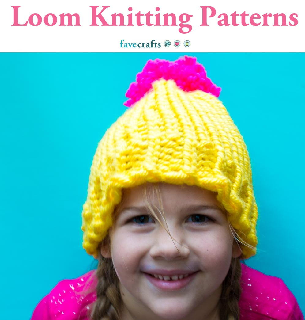 25 Loom Knitting Patterns Favecrafts Com