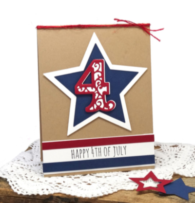 Fourth of July Star Card