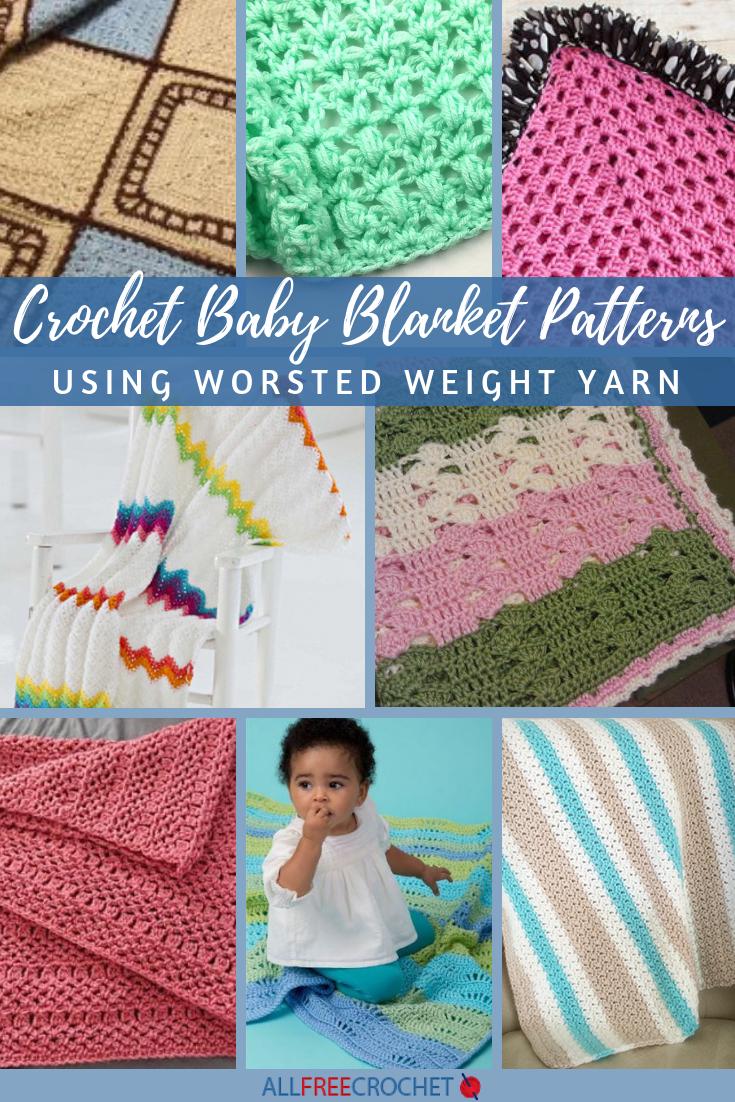 16 Crochet Baby Blanket Patterns Worsted Weight Yarn Allfreecrochet Com