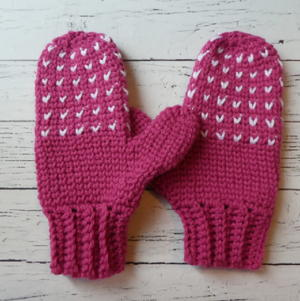 Snow Day Crochet Mittens