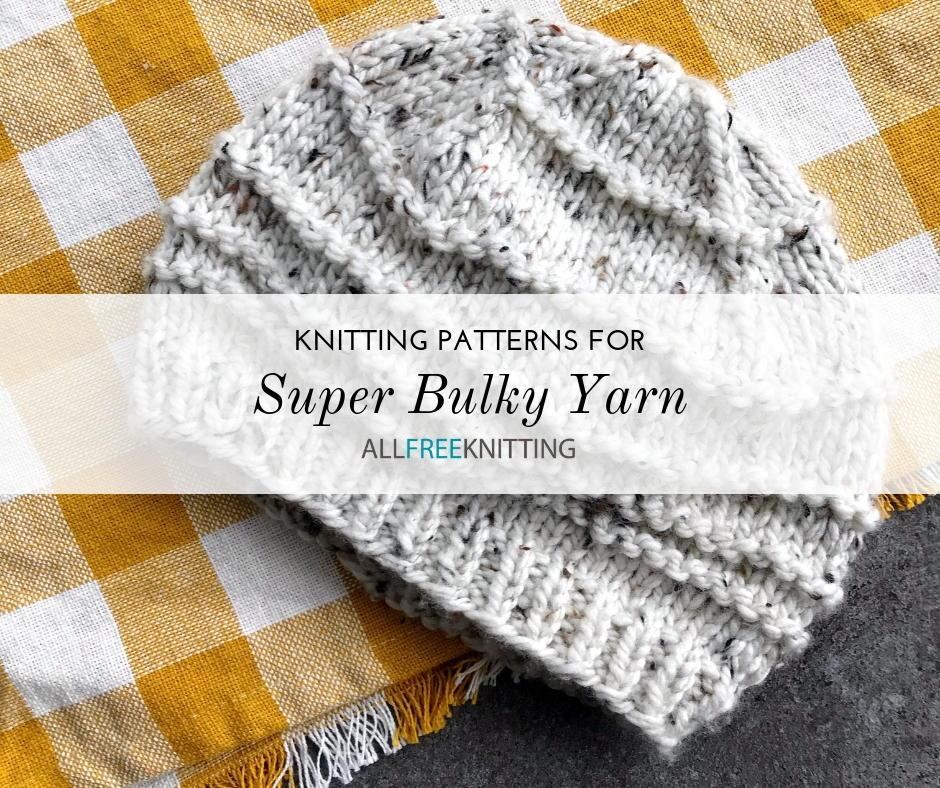 bulky yarn = speedy knitting Pattern for super easy knitted hat