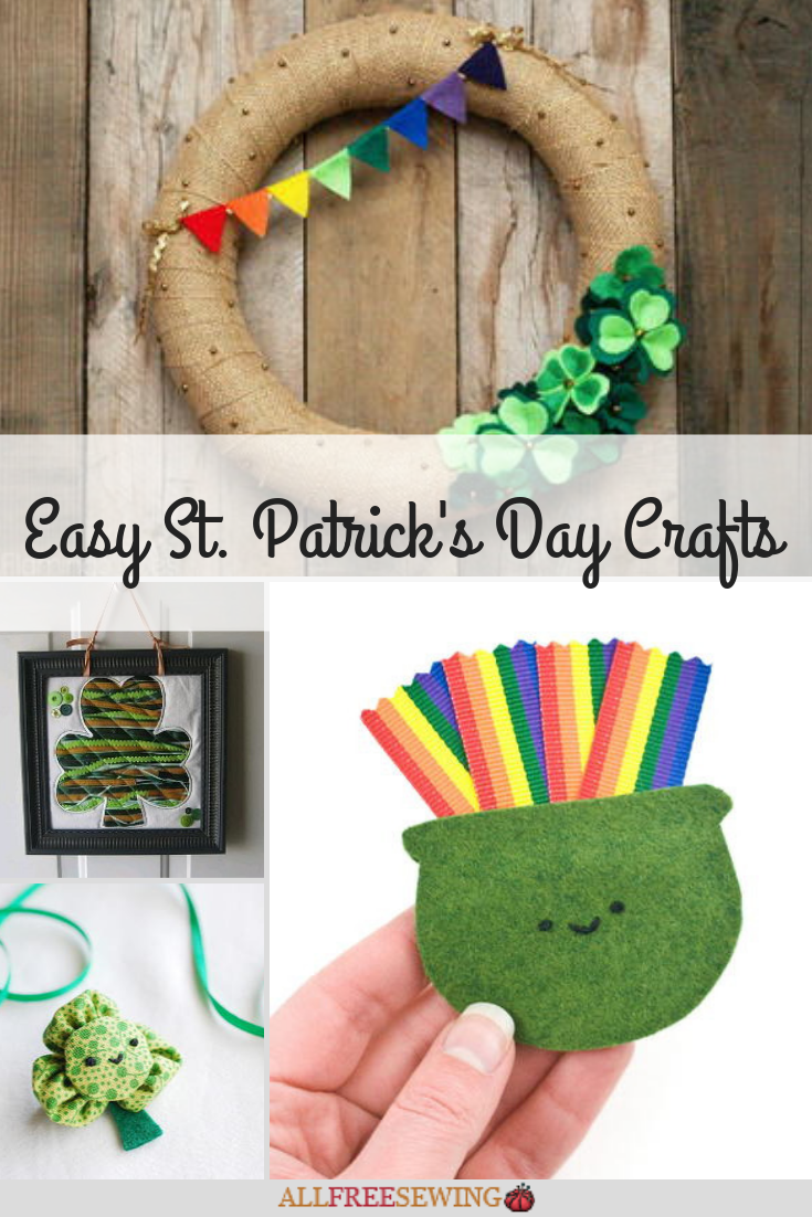 21 Easy St Patrick S Day Crafts Allfreesewing Com