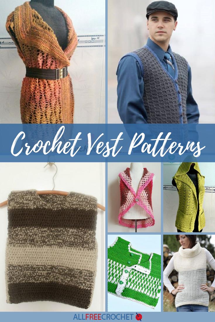 48 Crochet Vest Patterns Allfreecrochet Com