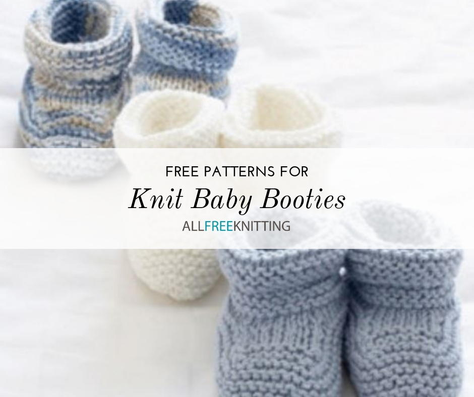 598d77f0a2e5c9 25 Knit Baby Booties Patterns (Free)
