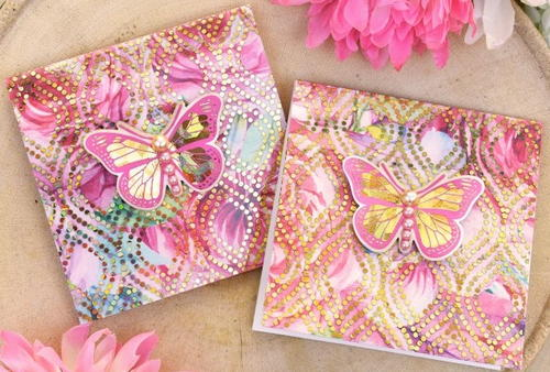 Butterfly Foiled Notecards