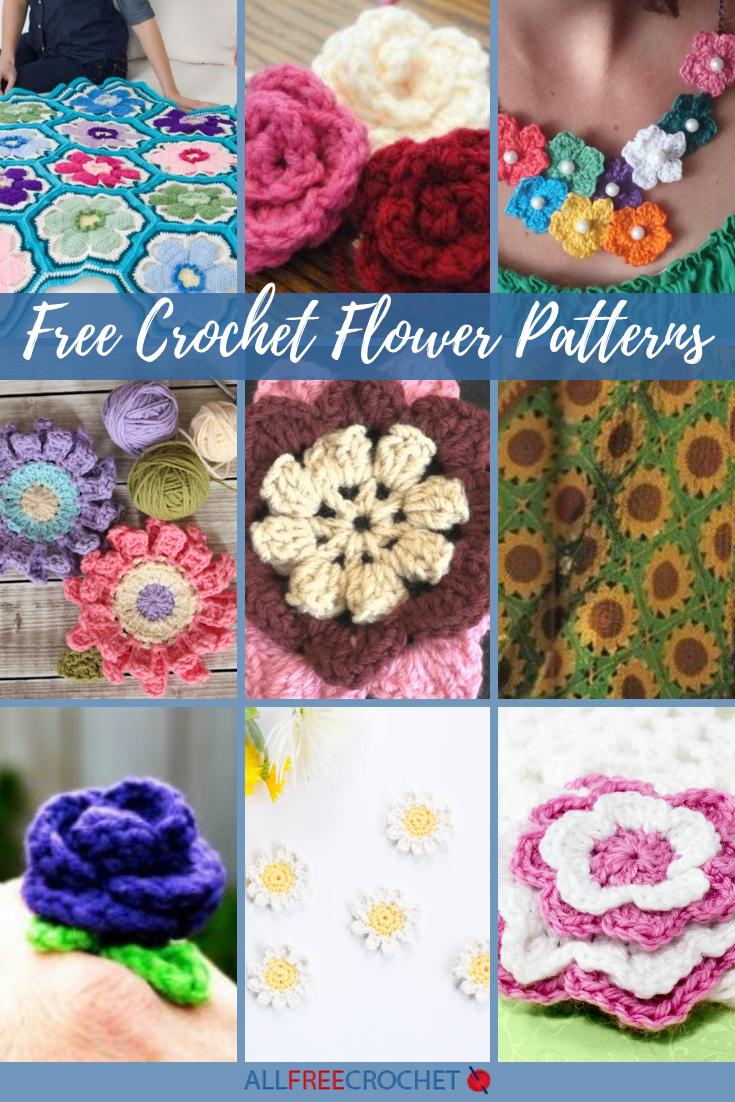 Crochet Bouquet Dozens of Easy Flowers /& Foliage crochet pattern book NEW