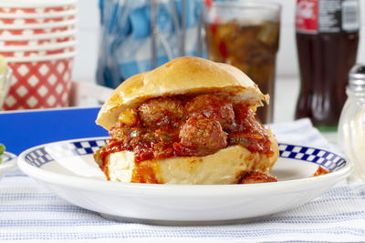 Sloppy Joe Meatball Sandwiches