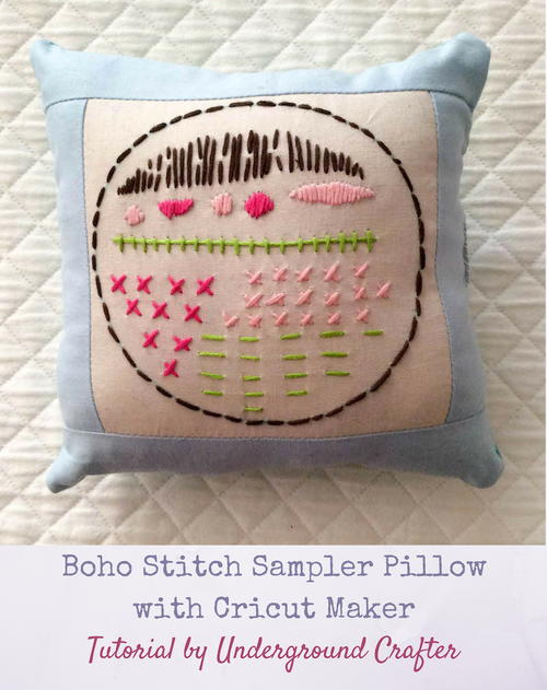 Boho Stitch Sampler Pillow