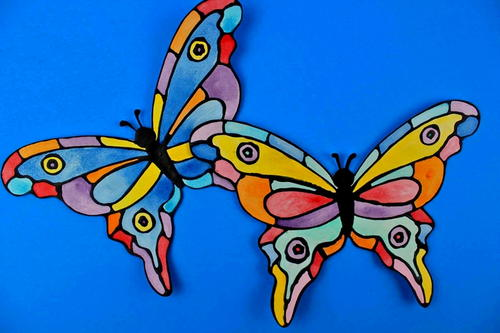 Faux Stained-Glass Butterfly Craft