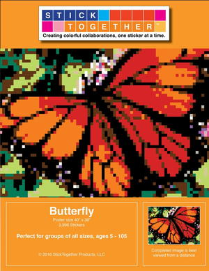 Awesome DIY Butterfly Paint by Stickers Kit Giveaway