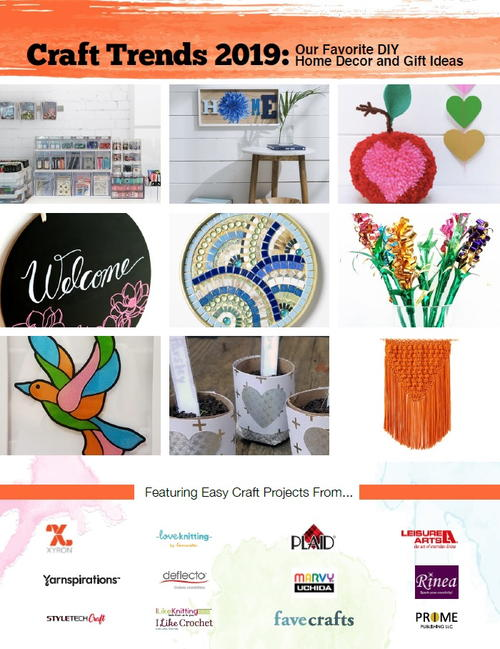 Craft Trends 2019 Our Favorite DIY Home Decor and Gift Ideas