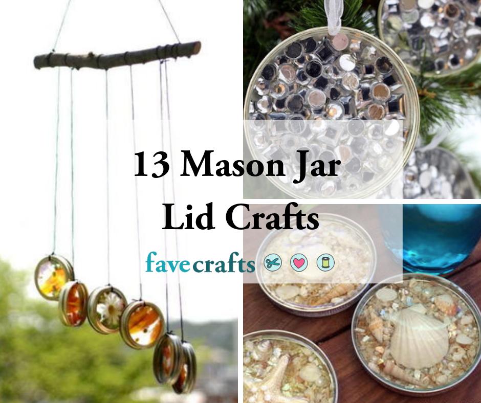 13 Mason Jar Lid Crafts Favecrafts Com