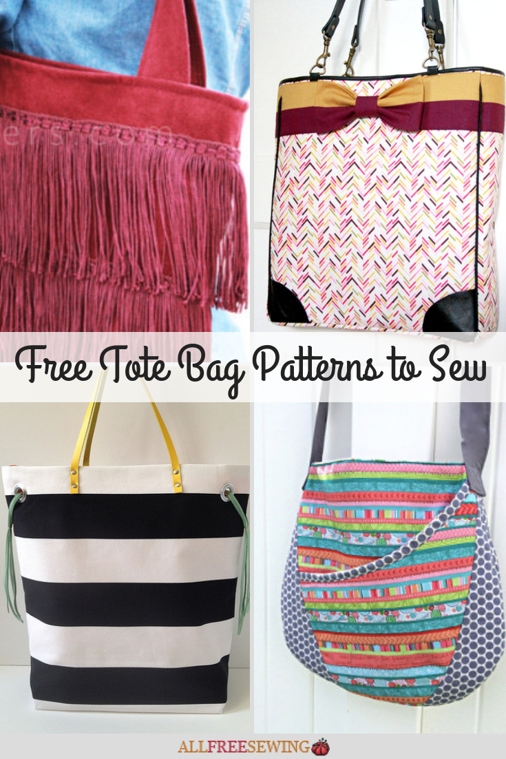 20 Free Tote Bag Patterns To Sew Allfreesewing Com