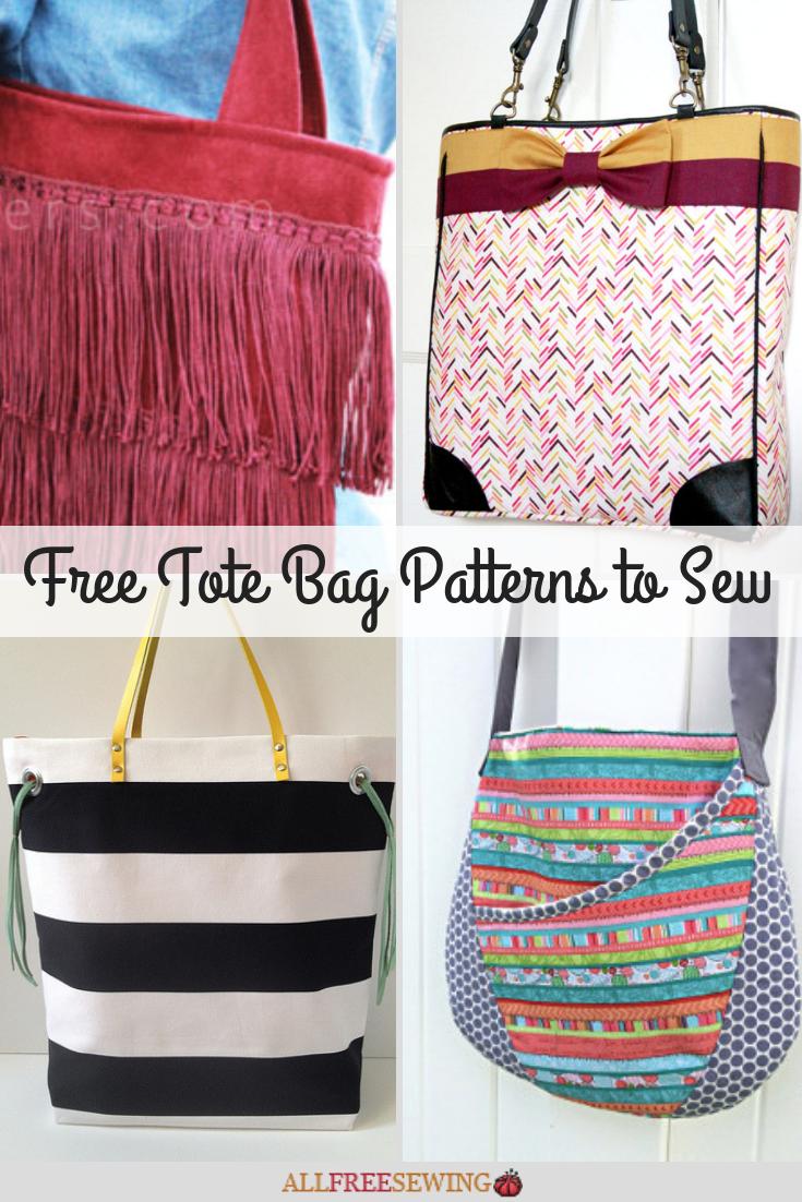 20 Free Tote Bag Patterns To Sew