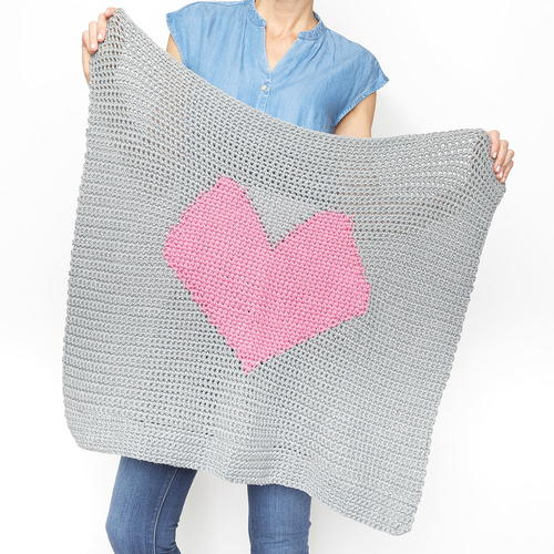 Heart Graphgan Baby Blanket Crochet Pattern