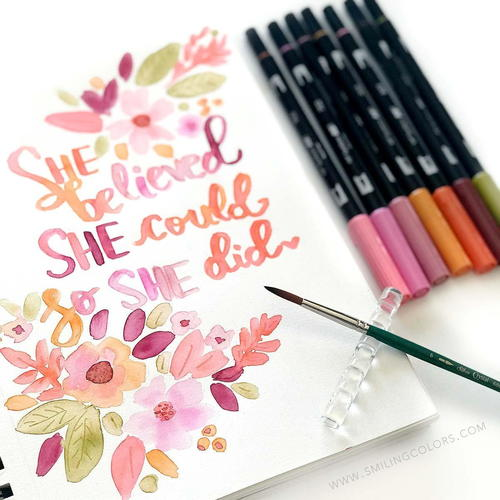 Watercolor Quote Art Step by Step Tutorial