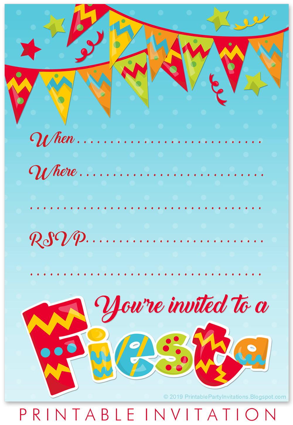 Printable Cinco De Mayo Invitation Allfreepapercrafts Com