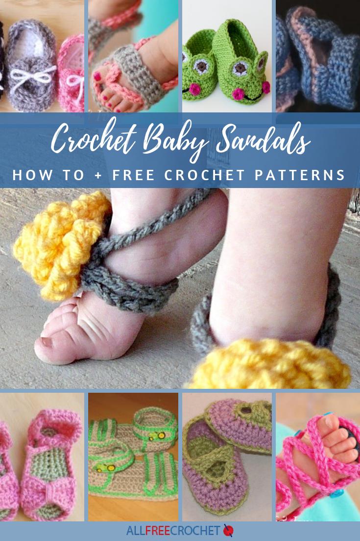 dcdeb78d0abee 24+ Crochet Baby Sandals (+ Exclusive Tutorial) | AllFreeCrochet.com
