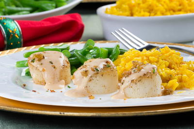 Scallops with Newburg Sauce