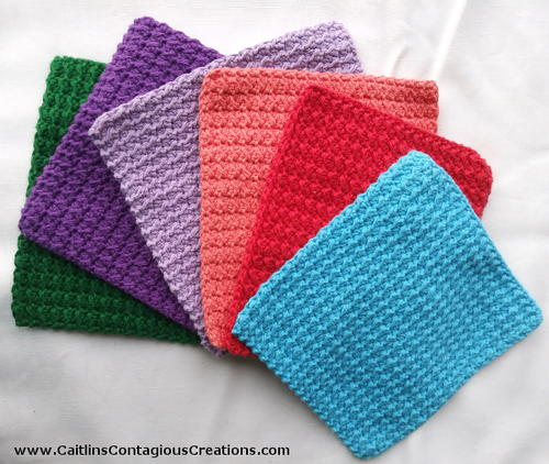 Crunch Stitch Dish Cloth