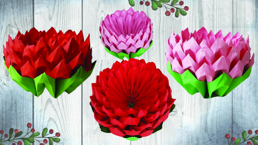 How To Make Lotus In Origami Style Easy Craft Tutorial Favecrafts Com